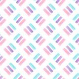 Modèle sans couture d'aquarelle avec la texture en pastel de rayures Conception moderne de textile Photo libre de droits