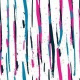 Modèle sans couture d'aquarelle avec les rayures verticales colorées Vect Photos stock