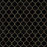 Modèle sans couture d'aquarelle de cru de Marocain décoratif noir de velours photographie stock libre de droits