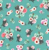 Modèle sans couture d'aquarelle florale Photographie stock