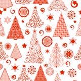 Modèle sans couture d'arbre de Noël Photos libres de droits