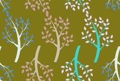 Modèle sans couture d'arbres Photographie stock