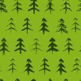 Modèle sans couture d'arbres de Noël Image stock