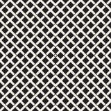 Modèle sans couture d'armure Fond de tressage de trellis de intersection de rayures Vecteur géométrique noir et blanc Photos stock