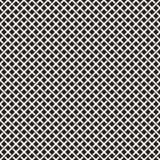 Modèle sans couture d'armure Fond de tressage de trellis de intersection de rayures Vecteur géométrique noir et blanc Photographie stock libre de droits