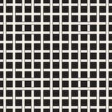 Modèle sans couture d'armure Fond de tressage de trellis de intersection de rayures Vecteur géométrique noir et blanc Photographie stock
