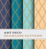 Modèle sans couture 36 d'Art Deco Image libre de droits