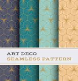 Modèle sans couture 45 d'Art Deco Images stock