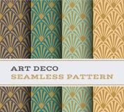 Modèle sans couture 17 d'Art Deco illustration stock