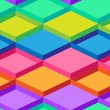 Modèle sans couture d'art op de vecteur abstrait Art de bruit coloré, ornement graphique Illusion optique Image libre de droits