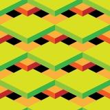 Modèle sans couture d'art op de vecteur abstrait Art de bruit coloré, ornement graphique Illusion optique Images libres de droits