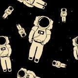 Modèle sans couture d'astronaute Images libres de droits