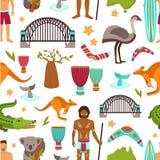 Modèle sans couture d'Australie illustration stock