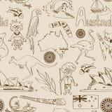 Modèle sans couture d'Australie de croquis illustration stock
