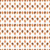Modèle sans couture d'automne coloré fait de main Image libre de droits