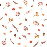 Modèle sans couture d'automne coloré fait de main Photographie stock
