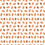 Modèle sans couture d'automne coloré fait de main Photo stock
