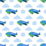 Modèle sans couture d'avions Photo stock