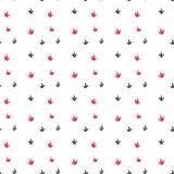 Modèle sans couture d'empreintes de pas d'oiseau d'aquarelle Illustration Stock