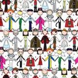 Modèle sans couture d'enfants heureux illustration libre de droits