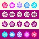Modèle sans couture d'ensemble de boules de Noël avec illustration stock