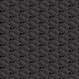 Modèle sans couture d'hexagones noirs. illustration stock
