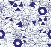 Modèle sans couture d'hexagones tirés par la main de griffonnage Photographie stock libre de droits
