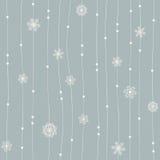 Modèle sans couture d'hiver Images stock