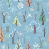 Modèle sans couture d'hiver Image libre de droits