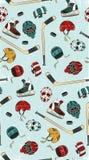 Modèle sans couture d'hockey Photographie stock libre de droits