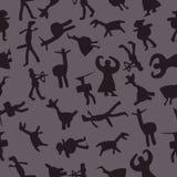 Modèle sans couture d'homme des cavernes illustration de vecteur