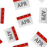Modèle sans couture d'icône d'avril de mois civil sur un fond blanc illustration de vecteur
