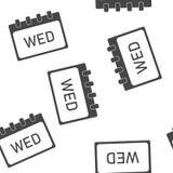 Modèle sans couture d'icône de mai de mois civil sur un fond blanc illustration de vecteur