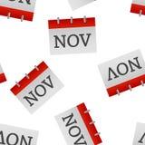 Modèle sans couture d'icône de novembre de mois civil sur un fond blanc illustration de vecteur