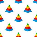 Modèle sans couture d'icône plate de diagramme de pyramide illustration de vecteur