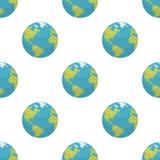 Modèle sans couture d'icône plate de la terre de planète illustration de vecteur
