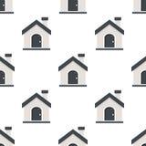 Modèle sans couture d'icône plate de maison ou de Chambre Images libres de droits