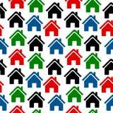 Modèle sans couture d'icône à la maison Images libres de droits