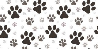 Modèle sans couture d'impression de patte de chien Image stock