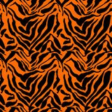 Modèle sans couture d'impression de tigre d'illustration de vecteur Fond tiré par la main orange et jaune illustration stock