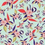 Modèle sans couture d'impression florale colorée illustration libre de droits