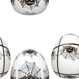 Modèle sans couture d'oeufs de pâques avec des araignées illustration de vecteur