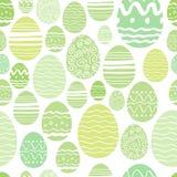 Modèle sans couture d'oeufs de pâques dans la couleur verte Image stock