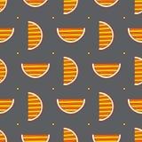 Modèle sans couture d'oranges tirées par la main de résumé Dirigez le fond coloré dans le style moderne Texture drôle rayée pour illustration stock