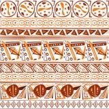 Modèle sans couture d'ornement indien tribal ethnique abstrait d'objets exotiques illustration de vecteur