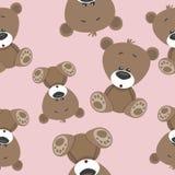 Modèle sans couture d'ours Image stock