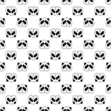 Modèle sans couture d'ours panda mignon, fond noir et blanc Illustration de vecteur Photographie stock libre de droits