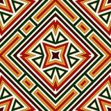 Modèle sans couture dans des couleurs traditionnelles de Noël Fond abstrait ornemental lumineux Motifs ethniques et tribals Image libre de droits