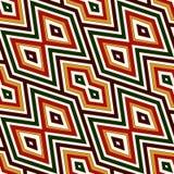 Modèle sans couture dans des couleurs traditionnelles de Noël Fond abstrait ornemental lumineux Motifs ethniques et tribals Photographie stock libre de droits