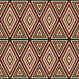 Modèle sans couture dans des couleurs traditionnelles de Noël Fond abstrait ornemental lumineux Motifs ethniques et tribals Photos stock